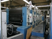 Used 5 colour with coater offset printer KBA Rapida 104-5+L, Pricereduction!