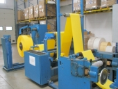 Used Table Napkins convertingproduction line OVERFALZ +Napkins package machine  SENNING