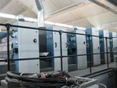 Used KBA RAPIDA 105-6+L+T+L+CX PWVA 6 colour offset printing machine