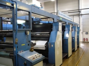 Newspaper printing machine KBA COMPACTA 213, Roll to roll / WEB
