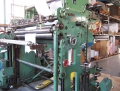 Used Slitter rewinder Goebel Rapid D with in-line flexo printing unit F&K
