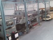 Used BOBST AV3 reel fed die cutting, stripping and auto stacking