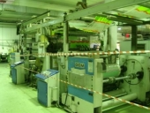 Used Laminator DCM TSS 1300, Roll to roll, Solventless