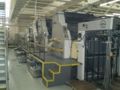 Used 6 colour Offset printer MAN Roland R 806-6+LV