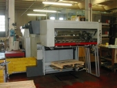 Used Auto Platen Bobst SP 1120 E - 300T flatbed die cutter