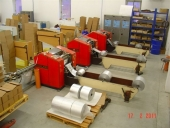 Used Slitter rewinder 8x Alu foil winders + 3 packaging lines