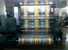 6 colour flexo press SUMAS, Roll to roll - Stack printing