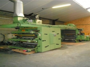 6 colour Flexo CI Printing machine TCM, width max: 1250 mm