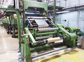 Cerutti R 38 rotogravure printing press roll to roll, 6 colour