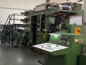 Used HOBEMA Type 14, 5 color Flexographic printing machine - table napkin folder
