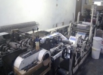 Used TATRAN block bottom paper bag producing maschine with 4 colors flexo printer