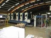 Used KBA 5 colour offset printing machine with perfector RAPIDA 104-5  3/2