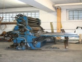Used 1 colour flexo printing machine on cardboard BOBST IRT