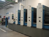 Used 5 colour offset press KBA RAPIDA 74-5 PWHA