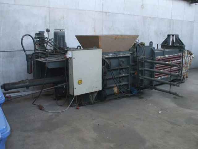 Baler Wire Tie System : Waste press baling machine paal pacomat ii