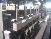 Used 6 UV Flexo col. Label making and printing machine Nilpeter B280-6