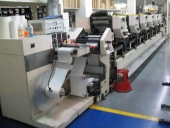 Used 6 col. Label making and printing machine NILPETER MO3300