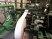 Used Rotary die cutter model 800 with 1 colour flexo in-line printer