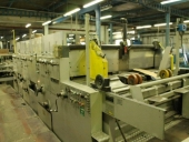 Used Production of corrugated board with FLEXOPRINTER and FOLDER GLUER
