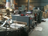 Used Slitter Rewinder for GIFT WRAPPING PAPER with packing and labeling