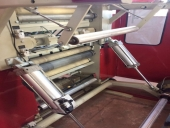 Used Slitter rewinder MOELLER RW 800 - paper and film roll winding and cutting machine